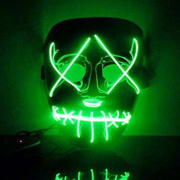 Led Luminous  Halloween Christmas Full Face Masks