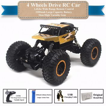 1:16 2.4Ghz RC Car Remote Control Toys 4WD Rock Crawler Radio Control Car Toys For Boys Rechargeable Battery Retail Box P810