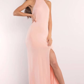 Sayge Halter Maxi Dress