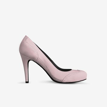 Levi Thang British High Heel Italian Leather Shoes Pink