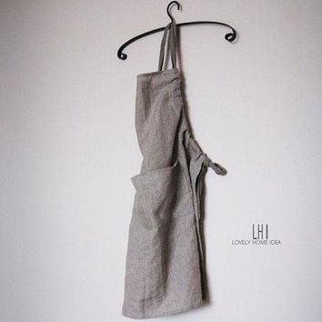 Custom Linen Apron. Stain Resistant. The Best Ever. Color Grey.