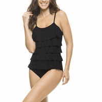 Estivo Black Ruffle One Piece