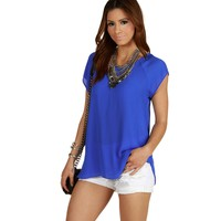 Royal Sure Thing Chiffon Blouse