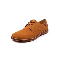 Hot fashion Suede Leather shoes Men Casual oxfords shoes