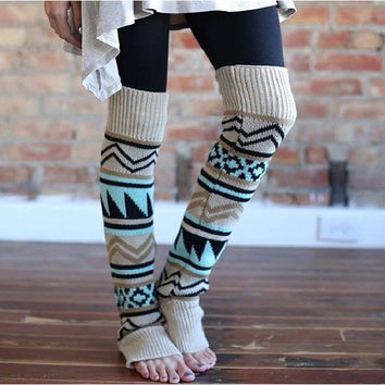 Aztec Leg warmers by KnitPopShop