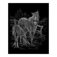 Royal Brush Silver Foil Engraving Art Kit 8`X10` Mare & Foal SILF-15; 3 Items/Order $10.35
