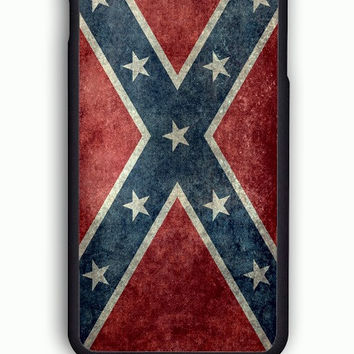 iPhone 6 Case - Rubber (TPU) Cover with Confederate Rebel Flag Rubber Case Design