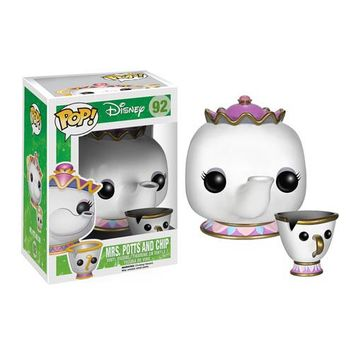 Beauty and the Beast Mrs. Potts And Chip Pop! Vinyl Figures - Funko - Beauty and the Beast - Pop! Vinyl Figures at Entertainment Earth