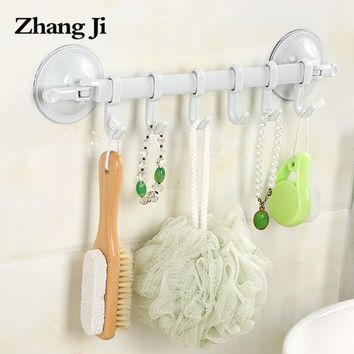 Zhangji Wall Mounted Bathroom Plastic Corner Shelf Suction Cup Shower Wall Shelf  Plastic