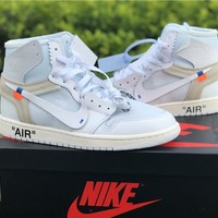 The 10: Off-White x Nike Air Jordan 1 White Sneaker