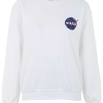 Nasa Distressed Sweatshirt by Tee & Cake - Topshop