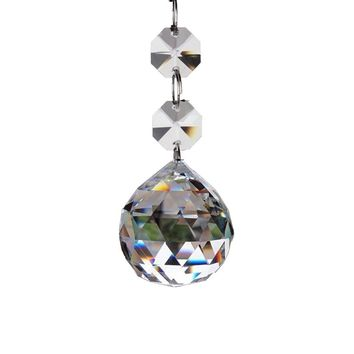30mm Faceted Glass Crystal Ball Prism Chandelier Crystal Parts Hanging Pendant Lighting Ball Suncatcher Wedding Home Decor