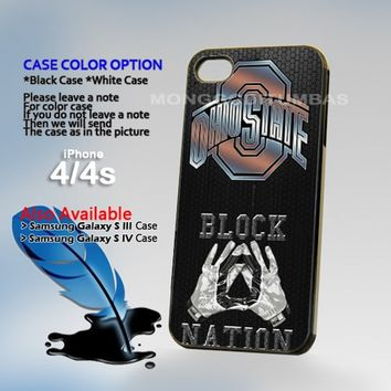 Ohio State Footbal Block Nation Photo On Hard Plastic iPhone 4 4S Case