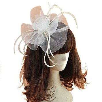 Women Fascinators Hair Clip Headband Hat Veil Flower Derby Cocktail Tea Party Church