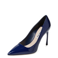Pointed-Toe Patent Leather Pump