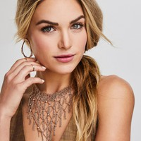 Georgina Statement Necklace in Rose Gold | Kendra Scott