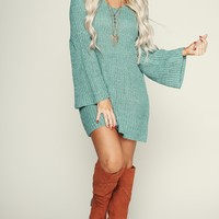 It's A Breeze Knitted Tunic (Aqua)
