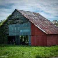 Big Ole Barn, 8 x 10 Fine Art Photography, Tennessee, Clarksville, Photo Art Print, Decor, Wall Decor