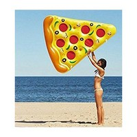 CLASSIC Giant Inflatable Pizza Slice Swimming Pool Float Raft with Cup Holders