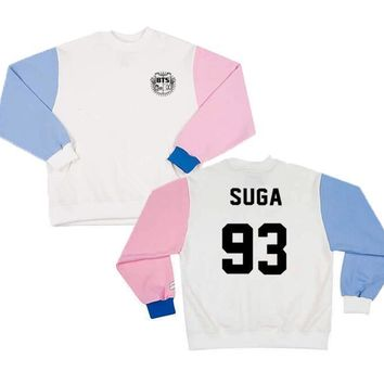 KPOP BTS Bangtan Boys Army New    boys suga jimin jhope Suit long sleeve sweatershirt hoodie Outerwears AT_89_10