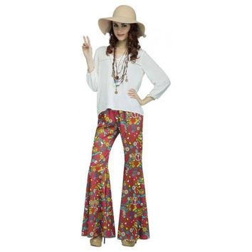 Bell Bottoms Adult 70s Disco or 60s Hippie Womens Halloween Costume Fancy Dress