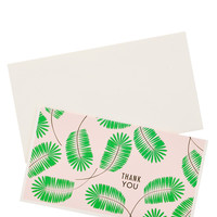 Palm Frond Thank You Card Set