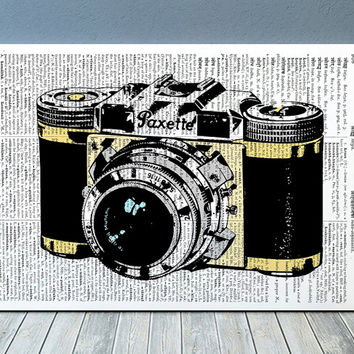 Camera art Antique print Retro print Vintage poster RTA1021