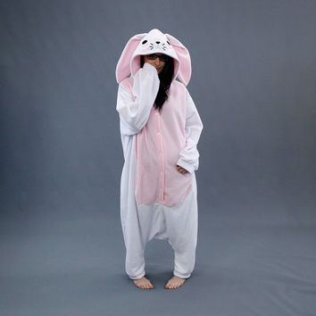 Pawstar Bunny Loves You Kigu Kigurumi White Brown Tan Black Gray Best Quality Spring Easter Adult Onsie Pajamas Halloween Costume 6327