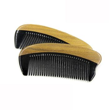 Horn Wood Pocket Beard Hair Comb