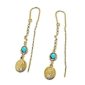 Virgin Mary Threaders Earrings 18K of Gold-Filled