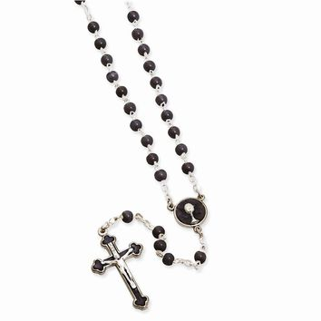 Black or White First Communion Keepsake Rosary - Perfect First Communion Gift