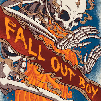 Fall Out Boy - Official Limited Edition Screen Printed Poster - Save Rock And Roll Tour