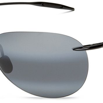 Maui Jim Sunglasses - Sugar Beach / Frame: Gloss Black Lens: Neutral Grey Polarized
