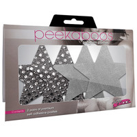 Dark Angel Star Pasties - Silver Pack of 2