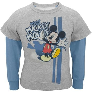 Mickey Mouse - Color in the Day Toddler Reversible Crewneck Sweatshirt
