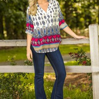 Jackie Hearts Kelso Blouse-Paisley