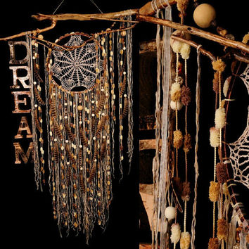 IN STOCK! Dreamcatchers dreamcatcher beige dreamcatcher brown American mascots Bohemian wall hanging boho Feather Decor Indian talisman gift
