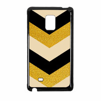 Chevron Classy Black And Gold Printed Samsung Galaxy Note Edge Case