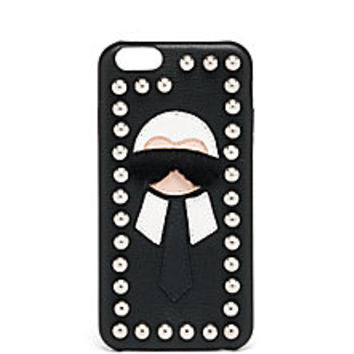 Fendi - Karl Fur-Trimmed iPhone 6 Case - Saks Fifth Avenue Mobile