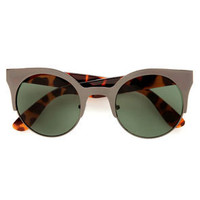 Precious Metals Tortoise and Gunmetal Sunglasses