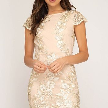'Belle Of The Ball' Embroidered Dress