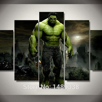 Framed Printed Hulk Movie Group Painting children's room decor print canvas art wall decor landscaping paintings framed F/788