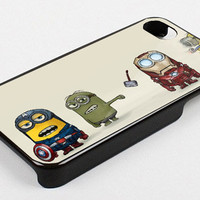 the avengers assamble minions action dispecable me kk iPhone 5 black Case