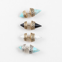 Cone Spike Earring - Turquoise