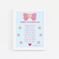 Sailor Moon Art - Magical Girl Idols Typography Print - Anime Art - Girl Power - Whimsical Art - Sailor Moon
