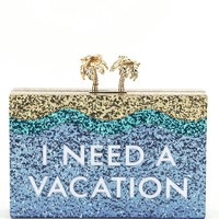 kate spade new york Breath of Fresh Air I Need a Vacation Clutch | Dillards