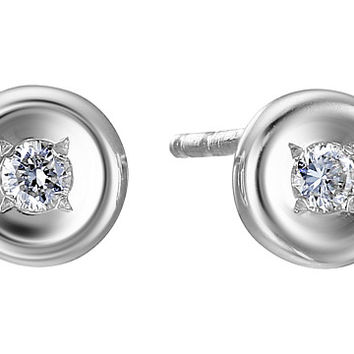 Roberto Coin Tiny Treasures 18K Earrings with Diamonds