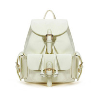 Drawstring Backpack In Beige