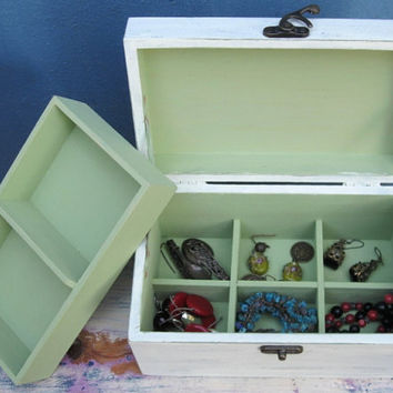 Shabby Chic Wooden Jewelry Box