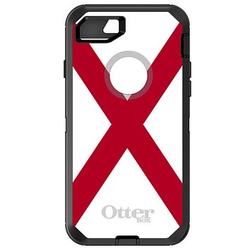 DistinctInk™ OtterBox Defender Series Case for Apple iPhone or Samsung Galaxy - Alabama State Flag